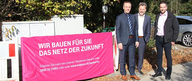 Waldkraiburg wird schneller: Eigenausbau der Telekom und geförderter Ausbau