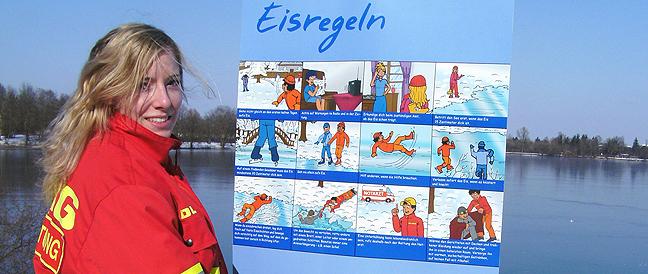 Weiher und Fließgewässer frieren zu – DLRG warnt: Das Eis trägt noch nicht!
