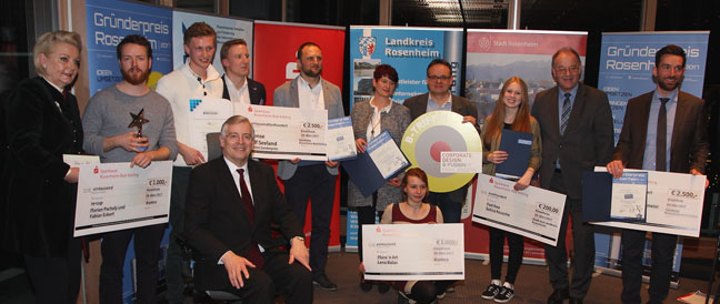 Gründerpreis Rosenheim 2017 vergeben
