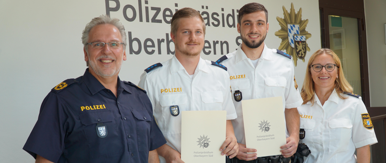 Polizisten als Lebensretter bei Brand in Mühldorf am Inn