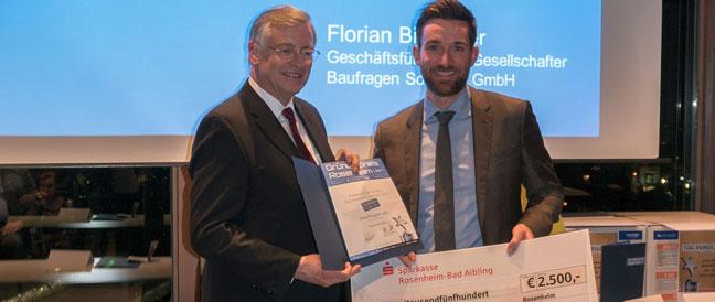 Baufragen.de gewinnt Digitalen Sonderpreis beim Gründerpreis von Stadt und Landkreis Rosenheim