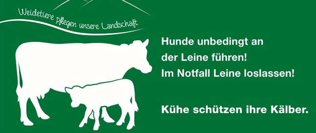 """Neues Warnschild: """"Achtung Weidetiere"""""""