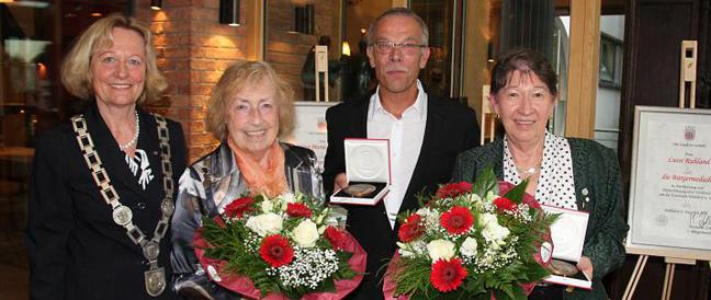 Bürgermedaille für drei verdiente Persönlichkeiten