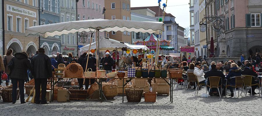 Shoppen und flanieren in Rosenheim