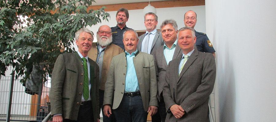 Sicherheitsgespräch der PI Bad Aibling mit den Bürgermeistern
