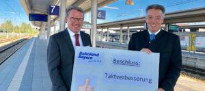 Region Rosenheim: Stundentaktverdichtungen auf den Zugverbindungen
