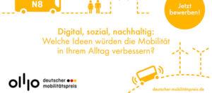 Bayern aufgepasst: Gewinnen Sie mit Ihrer Idee beim Deutschen Mobilitätspreis!