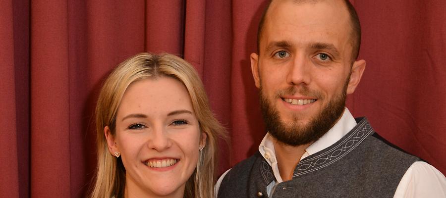 Prinzenpaar 2020: Franziska Max und Philip Hoffmann. Foto: Faschingsgilde Aschau