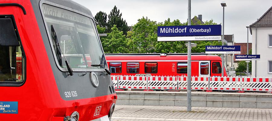 Anlaufpunkt für Interessierte der ABS 38: der Mühldorfer Bahnhof. Foto: Olaf Konstantin Krueger