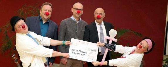 Klinik-Clowns besuchen Demenzpatienten