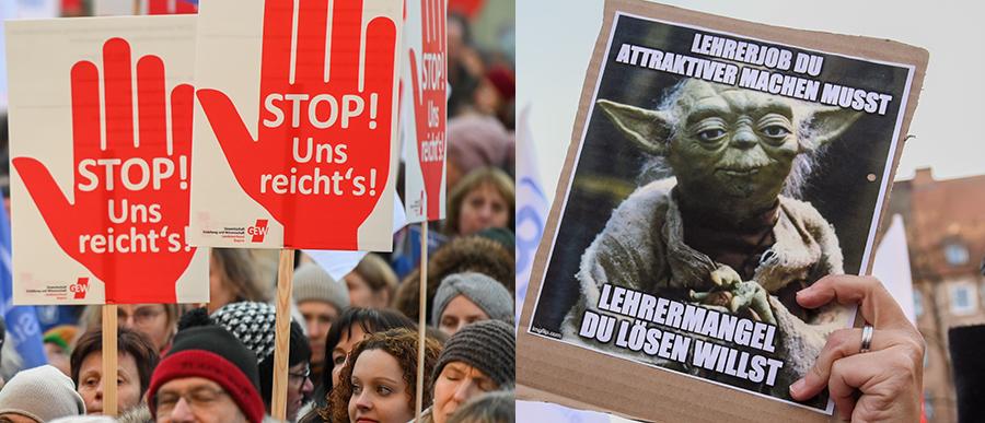 Lehrermangel: Protest und Petition gegen Mehrarbeit