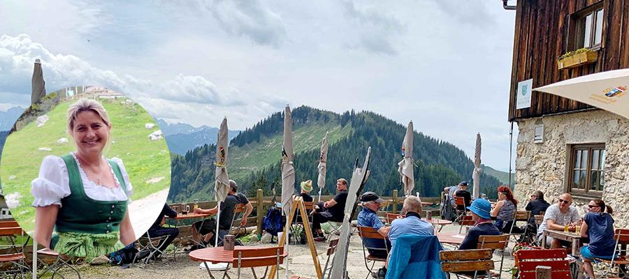Besuch am Geigelstein bei der Wirtin von der Priener Hütte