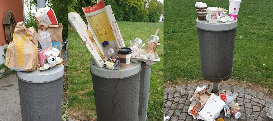 """Abfalleimer quellen über: """"ToGo""""-Abfall hat stark zugenommen"""
