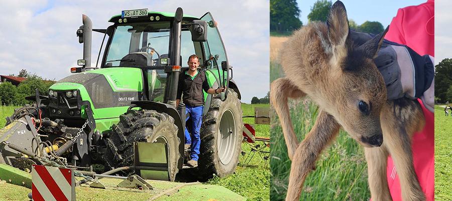 Attler Landwirte nutzen erstmals den Service der Wildtierhilfe Amerang