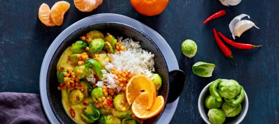 Veganes Rosenkohl-Curry