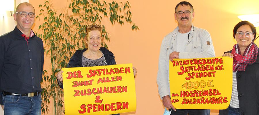 Theatergruppe Saftladen e. V. spendet für Hospizinsel