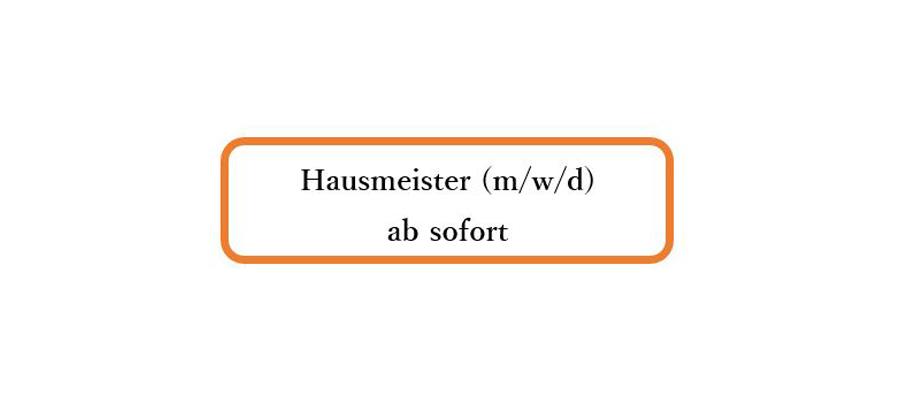 Hausmeister (m/w/d) ab sofort