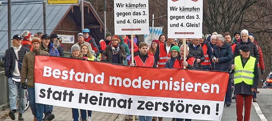 Brenner-Nordzulauf: Protestaktion am 24. April geplant