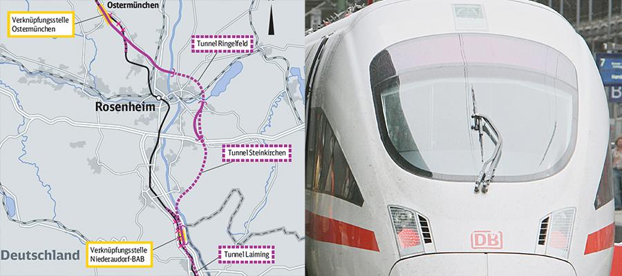 Brenner-Nordzulauf: Streckenverlauf für neue Bahnlinie steht fest