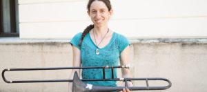 Studentin der TH Rosenheim baut Posaune aus Kunststoff